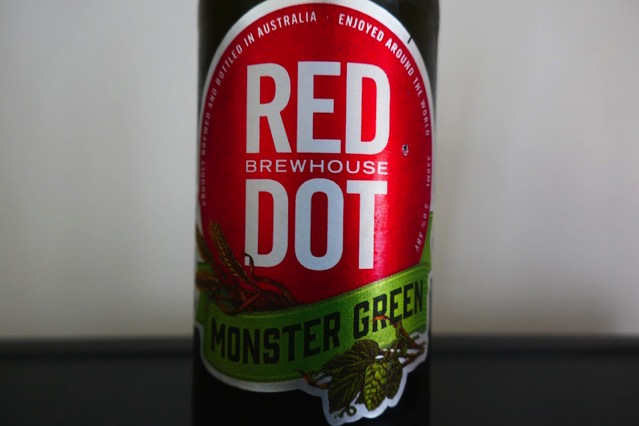 red dot monster green